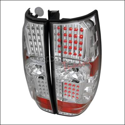Headlights & Tail Lights - Tail Lights - Spec-D - GMC Denali Spec-D LED Taillights - Chrome - LT-DEN07CLED-DP