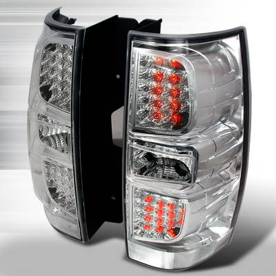 Headlights & Tail Lights - Tail Lights - Spec-D - GMC Denali Spec-D LED Taillights - Chrome - LT-DEN07CLED-KS