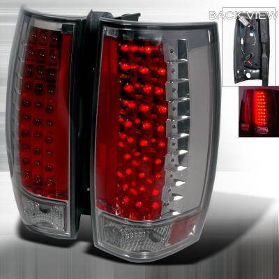 Headlights & Tail Lights - Tail Lights - Spec-D - GMC Denali Spec-D LED Taillights - Chrome - LT-DEN07GG3LED-KS