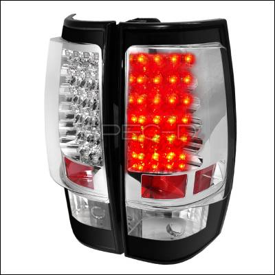 Headlights & Tail Lights - Tail Lights - Spec-D - GMC Denali Spec-D LED Taillights - Black - LT-DEN07JMLED-TM
