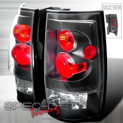 Headlights & Tail Lights - Tail Lights - Spec-D - GMC Denali Spec-D Altezza Taillights - Black - LT-DEN07JM-TM