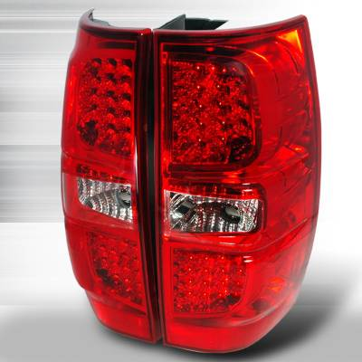 Headlights & Tail Lights - Tail Lights - Spec-D - GMC Denali Spec-D LED Taillights - Red - LT-DEN07RLED-KS