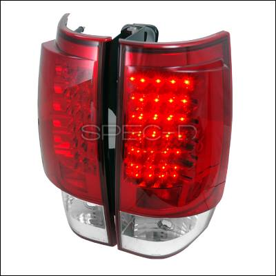 Headlights & Tail Lights - Tail Lights - Spec-D - GMC Denali Spec-D LED Taillights - Red - LT-DEN07RLED-TM