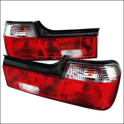 Headlights & Tail Lights - Tail Lights - Spec-D - BMW 7 Series Spec-D Taillights - Red & Clear - LT-E3288RPW-APC