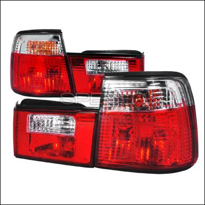 Headlights & Tail Lights - Tail Lights - Spec-D - BMW 5 Series Spec-D Altezza Taillights - Red & Clear - LT-E344RPW-APC