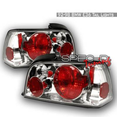 Headlights & Tail Lights - Tail Lights - Spec-D - BMW 3 Series 2DR Spec-D Altezza Taillights - Chrome - LT-E362-KS