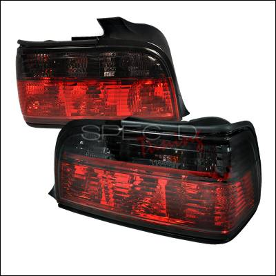 Headlights & Tail Lights - Tail Lights - Spec-D - BMW 3 Series 4DR Spec-D Altezza Taillights - Red & Smoke - LT-E364RG-APC