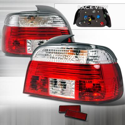 Headlights & Tail Lights - Tail Lights - Spec-D - BMW 5 Series Spec-D Altezza Taillights - Red & Clear - LT-E394RPW-APC