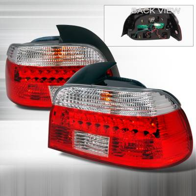 Headlights & Tail Lights - Tail Lights - Spec-D - BMW 5 Series Spec-D LED Taillights - Red - LT-E3996RLED-KS