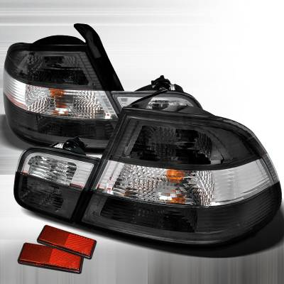 Headlights & Tail Lights - Tail Lights - Spec-D - BMW 3 Series 2DR Spec-D Altezza Taillights - Chrome - LT-E462GPW-APC