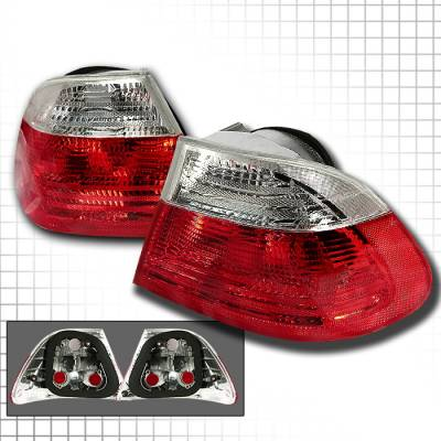 Headlights & Tail Lights - Tail Lights - Spec-D - BMW 3 Series 2DR Spec-D Altezza Taillights - Red & Clear - LT-E46992RPW-KS