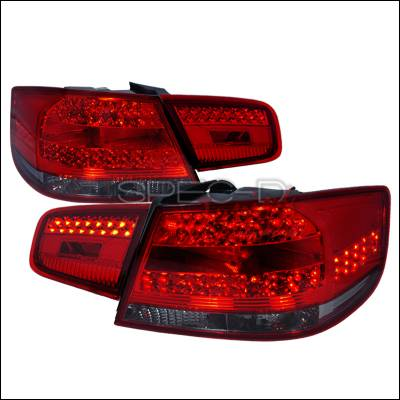 Headlights & Tail Lights - Tail Lights - Spec-D - BMW 3 Series 2DR Spec-D LED Taillights - Red & Smoke - LT-E9207RGLED-KS