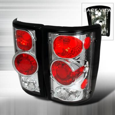 Headlights & Tail Lights - Tail Lights - Spec-D - Ford Excursion Spec-D Altezza Taillights - Chrome - LT-ECON00-KS
