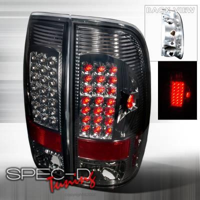 Headlights & Tail Lights - Tail Lights - Spec-D - Ford F350 Spec-D LED Taillights - Smoke - LT-F15097GLED-APC