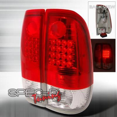 Headlights & Tail Lights - Tail Lights - Spec-D - Ford F350 Spec-D LED Taillights - Red - LT-F15097RG2LED-KS