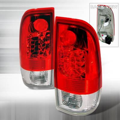 Headlights & Tail Lights - Tail Lights - Spec-D - Ford F350 Spec-D LED Taillights - Red - LT-F15097RLED-KS