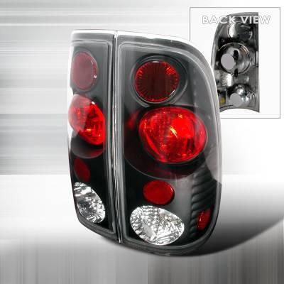 Headlights & Tail Lights - Tail Lights - Spec-D - Ford F250 Spec-D Altezza Taillights - Black - LT-F15097V2JM-KS
