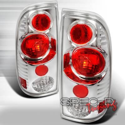 Headlights & Tail Lights - Tail Lights - Spec-D - Ford F350 Spec-D Altezza Taillights - Chrome - LT-F15097V2-KS