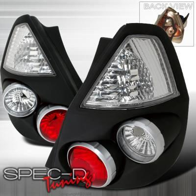 Headlights & Tail Lights - Tail Lights - Spec-D - Honda Fit Spec-D Altezza Taillights - Black - LT-FIT06JM-TM