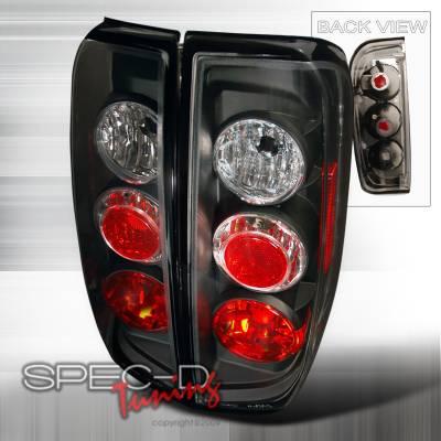 Headlights & Tail Lights - Tail Lights - Spec-D - Nissan Frontier Spec-D Altezza Taillights - Black - LT-FRO05JM-TM