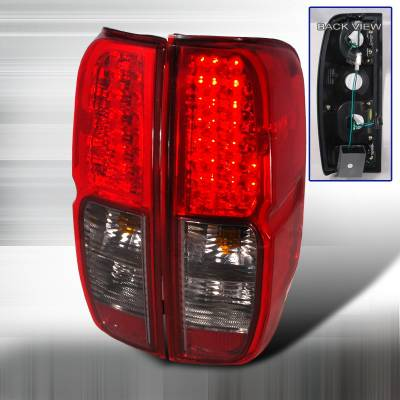 Headlights & Tail Lights - Tail Lights - Spec-D - Nissan Frontier Spec-D LED Taillights - Red & Smoke - LT-FRO05RGLED-KS