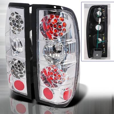 Headlights & Tail Lights - Tail Lights - Spec-D - Nissan Frontier Spec-D LED Taillights - Chrome - LT-FRO98CLED-KS