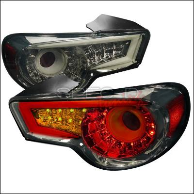 Headlights & Tail Lights - Tail Lights - Spec-D - Scion FRS Spec-D LED Taillights - Smoke - LT-FRS12GLED-TM