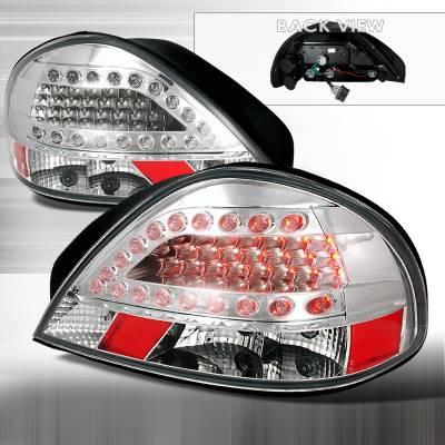 Headlights & Tail Lights - Tail Lights - Spec-D - Pontiac Grand Am Spec-D LED Taillights - Chrome - LT-GAM99CLED-KS