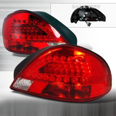 Headlights & Tail Lights - Tail Lights - Spec-D - Pontiac Grand Am Spec-D LED Taillights - Red - LT-GAM99RLED-KS