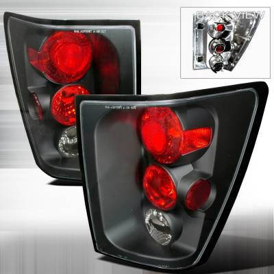 Headlights & Tail Lights - Tail Lights - Spec-D - Jeep Grand Cherokee Spec-D Altezza Taillights - Black - LT-GKEE04JM-TM