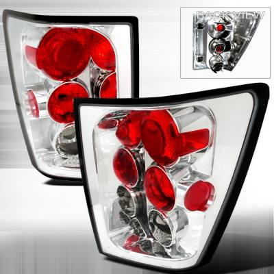 Headlights & Tail Lights - Tail Lights - Spec-D - Jeep Grand Cherokee Spec-D Altezza Taillights - Chrome - LT-GKEE04-TM