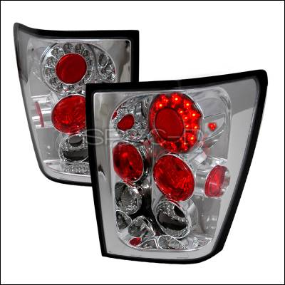 Headlights & Tail Lights - Tail Lights - Spec-D - Jeep Grand Cherokee Spec-D LED Taillights - Chrome - LT-GKEE05CLED-TM
