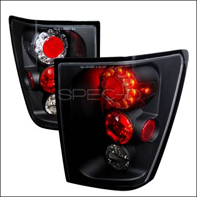 Headlights & Tail Lights - Tail Lights - Spec-D - Jeep Grand Cherokee Spec-D LED Taillights - Black - LT-GKEE05JMLED-TM