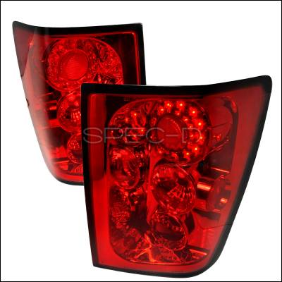 Headlights & Tail Lights - Tail Lights - Spec-D - Jeep Grand Cherokee Spec-D LED Taillights - Red - LT-GKEE05RLED-TM