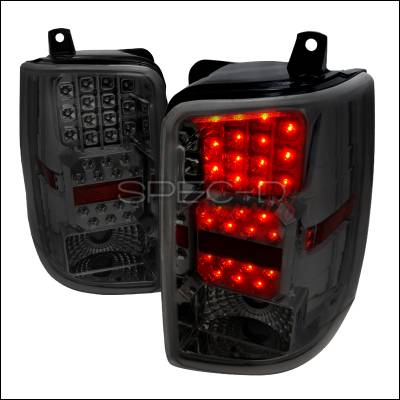 Headlights & Tail Lights - Tail Lights - Spec-D - Jeep Grand Cherokee Spec-D LED Taillights - Chrome with Smoke Lens - LT-GKEE93CGLED-WJ