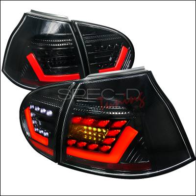 Headlights & Tail Lights - Tail Lights - Spec-D - Volkswagen Golf GTI Spec-D LED Taillights - Black - LT-GLF05JM-F2-APC
