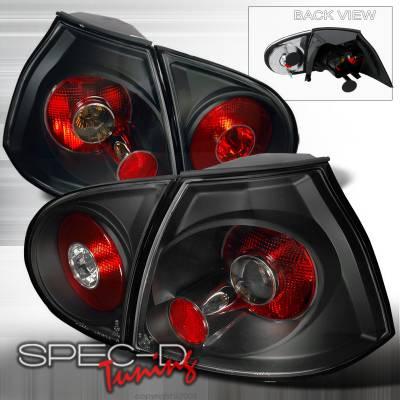 Headlights & Tail Lights - Tail Lights - Spec-D - Volkswagen Golf Spec-D Altezza Taillights - Black - LT-GLF05JM-TM