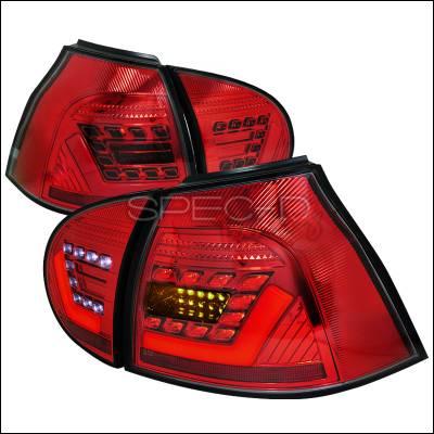 Headlights & Tail Lights - Tail Lights - Spec-D - Volkswagen Golf GTI Spec-D LED Taillights - Red - LT-GLF05R-F2-APC