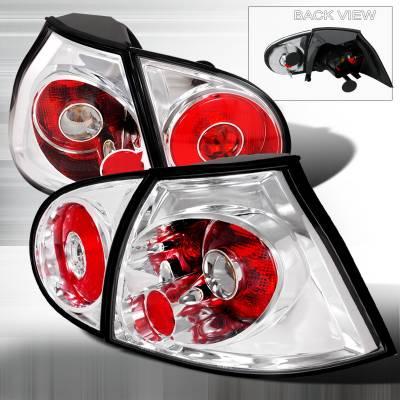 Headlights & Tail Lights - Tail Lights - Spec-D - Volkswagen Golf Spec-D Altezza Taillights - Chrome - LT-GLF05-TM
