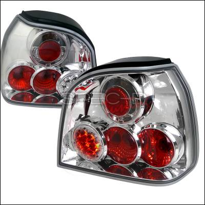 Headlights & Tail Lights - Tail Lights - Spec-D - Volkswagen Golf Spec-D LED Taillights - Chrome Housing - LT-GLF93CLED-TM
