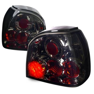 Headlights & Tail Lights - Tail Lights - Spec-D - Volkswagen Golf Spec-D LED Taillights - Smoked Lens - LT-GLF93GLED-TM