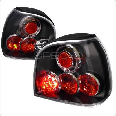 Headlights & Tail Lights - Tail Lights - Spec-D - Volkswagen Golf Spec-D LED Taillights - Black Housing - LT-GLF93JMLED-TM
