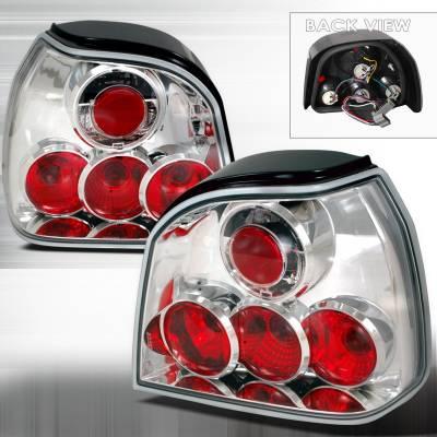 Headlights & Tail Lights - Tail Lights - Spec-D - Volkswagen Golf Spec-D Altezza Taillights - Chrome - LT-GLF93-TM
