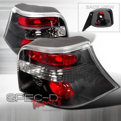 Headlights & Tail Lights - Tail Lights - Spec-D - Volkswagen Golf Spec-D Altezza Taillights - Black - LT-GLF99JM-TM