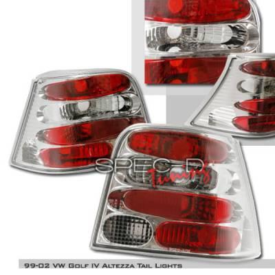 Headlights & Tail Lights - Tail Lights - Spec-D - Volkswagen Golf Spec-D Altezza Taillights - Chrome - LT-GLF99-KS