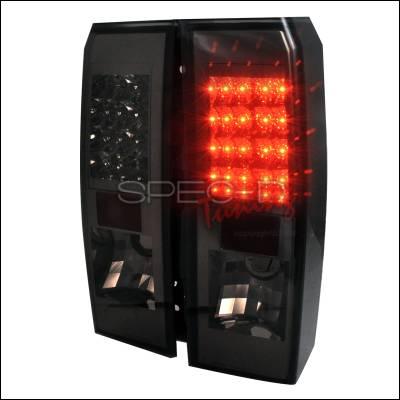 Headlights & Tail Lights - Tail Lights - Spec-D - Hummer H3 Spec-D LED Taillights - Smoke - LT-H306GLED-TM