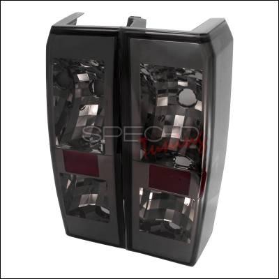 Headlights & Tail Lights - Tail Lights - Spec-D - Hummer H3 Spec-D Altezza Taillights - Smoke - LT-H306G-TM