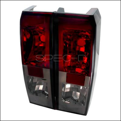Headlights & Tail Lights - Tail Lights - Spec-D - Hummer H3 Spec-D Altezza Taillights - Red & Smoke - LT-H306RG-TM