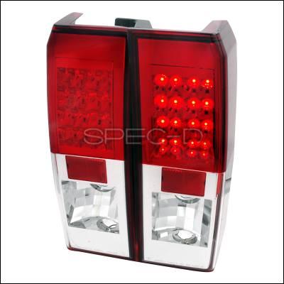 Headlights & Tail Lights - Tail Lights - Spec-D - Hummer H3 Spec-D LED Taillights - Red - LT-H306RLED-TM