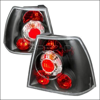Headlights & Tail Lights - Tail Lights - Spec-D - Volkswagen Jetta Spec-D Altezza Taillights - Black - LT-JET99JM-TM